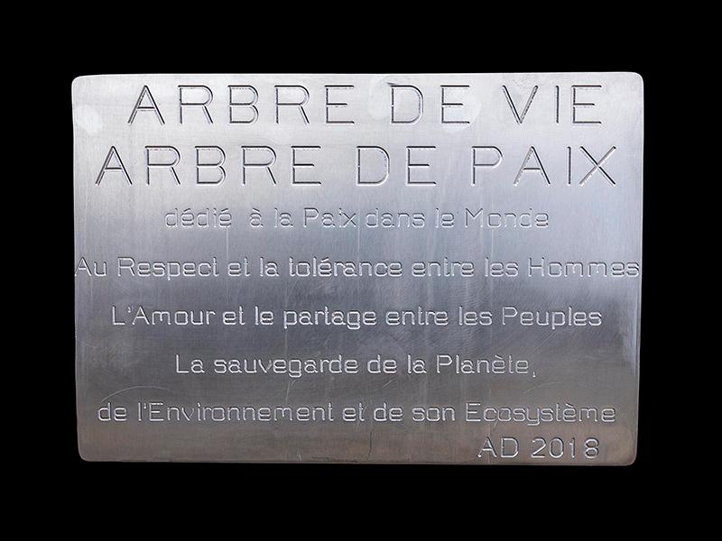 Plaque Sculpture Arbre de Vie Arbre de Paix